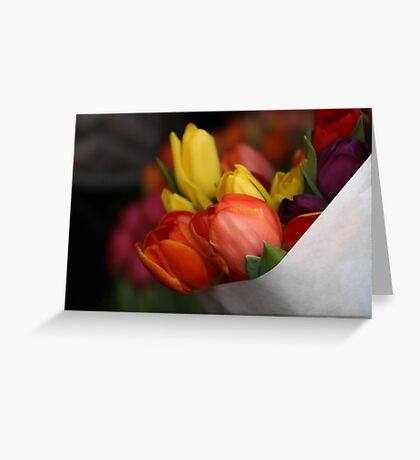 January Bouquet Greeting Card