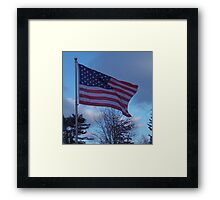 Flag of the USA, Red, White and Blue Framed Print