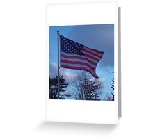 Flag of the USA, Red, White and Blue Greeting Card