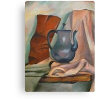 still life with pitcher Canvas Print