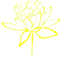 Lotus Flower Calligraphy (Yellow) by Makanahele