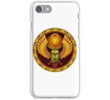 Symbol of the god the sacred solar bug iPhone Case/Skin