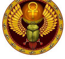 Symbol of the god the sacred solar bug by nikolaich