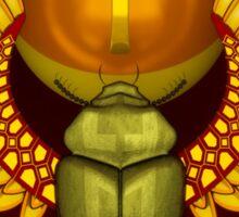 Symbol of the god the sacred solar bug Sticker