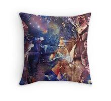 Meditation Under the Solemnity of the Midnight Sky  Throw Pillow