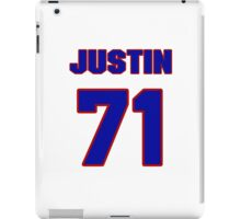 National football player Justin Trattou jersey 71 iPad Case/Skin