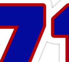 National football player Justin Trattou jersey 71 Sticker