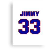 National football player Jimmy Spencer jersey 33 Canvas Print