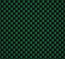 Green Carbon Fibre iPhone / Samsung Galaxy Case Sticker
