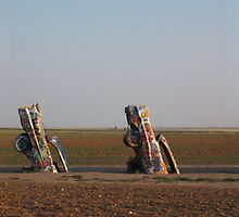 Cadillac Ranch, TX by Michael Gorham