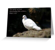 Spirit Of God Greeting Card
