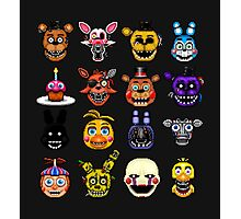 Five Nights at Freddy's - Pixel art - Multiple characters Photographic Print