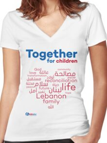Together for...Children Women's Fitted V-Neck T-Shirt