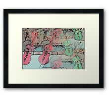 The  Heavenly Music of  Cello  Players   Framed Print