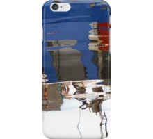 Blue Boat Reflections iPhone Case/Skin