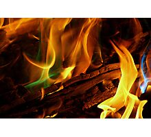 Magical Flames Photographic Print