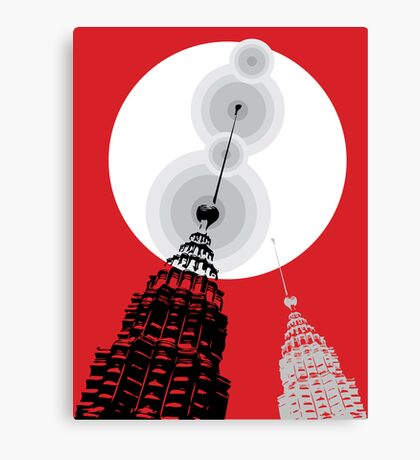 Towers of Asia Canvas Print