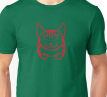 Happy Cat -Tabby (red) - Large pic Unisex T-Shirt