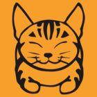 Happy Cat - Tabby (black) - Large pic by artbyakiko