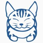 Happy Cat - Tabby (blue) - Large pic by artbyakiko