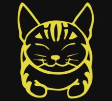 Happy Cat - Tabby (yellow) - Large pic by artbyakiko
