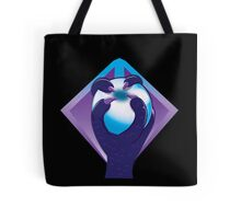 Purple Talon hand with a white silver ORB Tote Bag