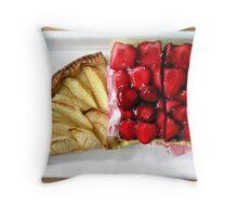 Swiss Breakfast Tarts Throw Pillow