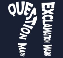 Question Mark Exclamation Mark (white design) Kids Clothes
