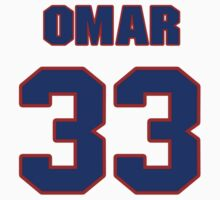 National football player Omar Easy jersey 33 by imsport
