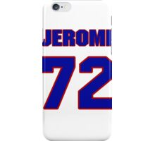 National football player Jerome Daniels jersey 72 iPhone Case/Skin