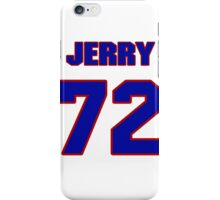 National football player Jerry DeLucca jersey 72 iPhone Case/Skin