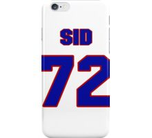 National football player Sid Fournet jersey 72 iPhone Case/Skin