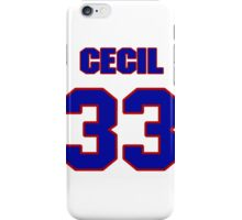 National football player Cecil Sapp jersey 33 iPhone Case/Skin