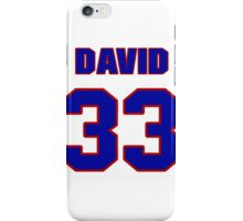 National football player David Sims jersey 33 iPhone Case/Skin