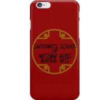 Anything Goes Martial Arts Alternative iPhone Case/Skin