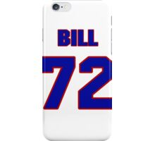 National football player Bill Keating jersey 72 iPhone Case/Skin