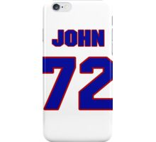 National football player John Kissell jersey 72 iPhone Case/Skin