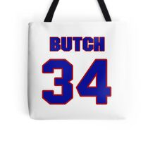 National football player Butch Avinger jersey 34 Tote Bag