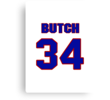 National football player Butch Avinger jersey 34 Canvas Print