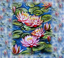 Water Lilies Fantasy by Harsh  Malik