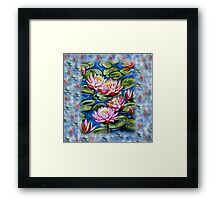 Water Lilies Fantasy Framed Print