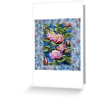 Water Lilies Fantasy Greeting Card