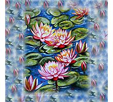 Water Lilies Fantasy Photographic Print