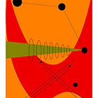 Mid-Century Modern Abstract in Orange by gailg1957