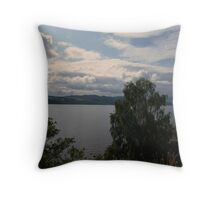 Across The Loch Throw Pillow