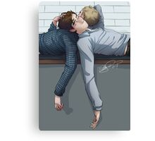 When John first broached the subject of best man… Canvas Print