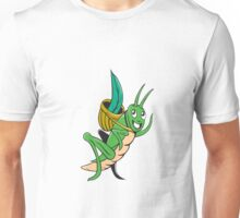 Grasshopper Carrying Basket Grass Cartoon Unisex T-Shirt