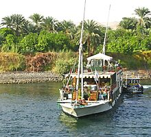 Harbour Life along the River Nile by Marilyn Harris