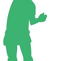 Green Volleyball Spike Silhouette by kwg2200