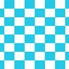 Sky Blue White Check Pattern Bedspread by deanworld